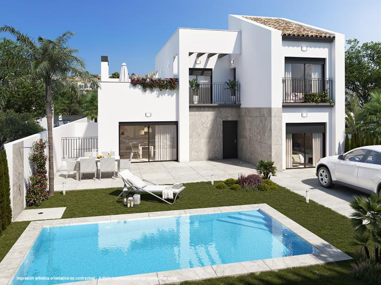 Neue Villa mit 3 Schlafzimmern im mediterranen Stil in Nieuwbouw Costa Blanca