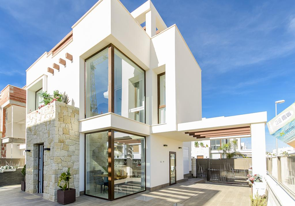 Villa mit 3 Schlafzimmern 3 Bädern in Südlage Ciudad Quesada in Nieuwbouw Costa Blanca