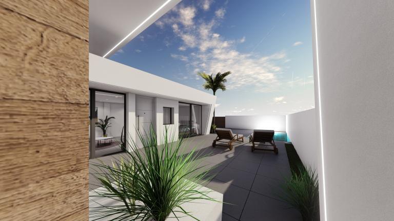 Atemberaubendes neues 2-Schlafzimmer-Erdgeschoss-Villenprojekt Murcia Nieuwbouw Costa Blanca