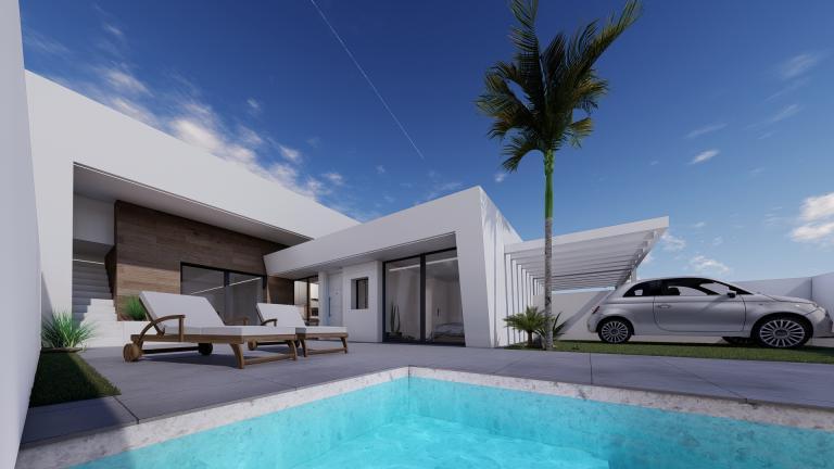 Atemberaubendes neues 2-Schlafzimmer-Erdgeschoss-Villenprojekt Murcia in Nieuwbouw Costa Blanca