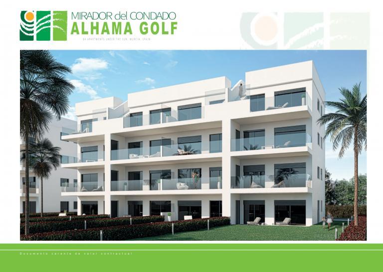 Neue Wohnungen im Golfresort Alhama Golf, Murcia in Nieuwbouw Costa Blanca