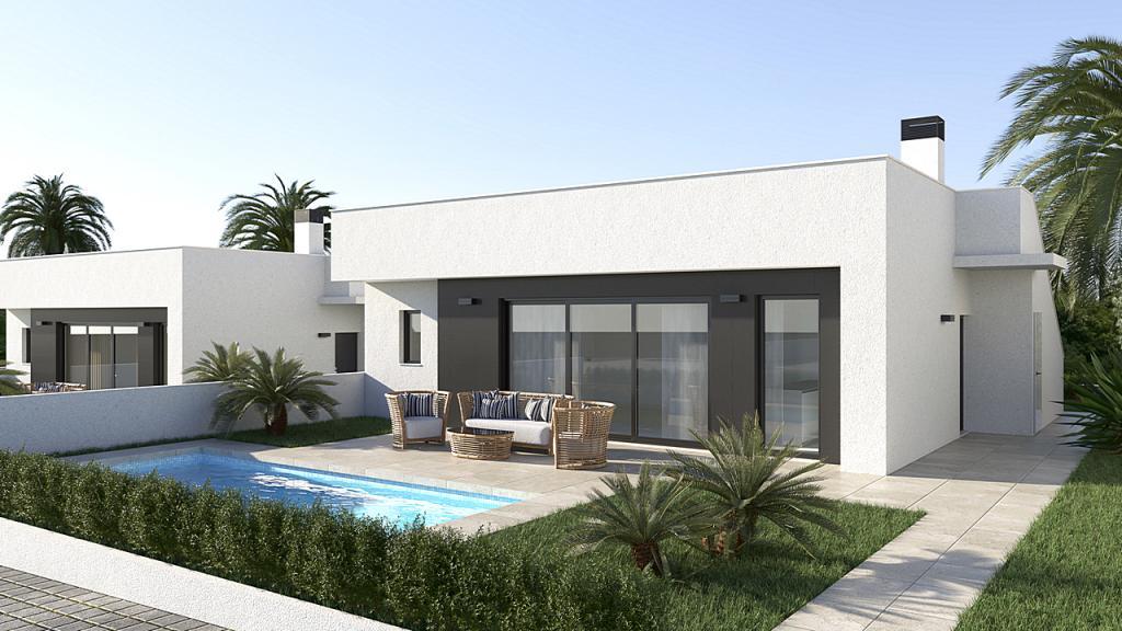 Neue Villen 3 Schlafzimmer 2 Badezimmer GOLF - Murcia in Nieuwbouw Costa Blanca