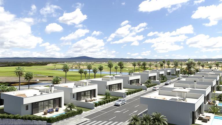 Neue Villen 3 Schlafzimmer 2 Badezimmer GOLF - Murcia Nieuwbouw Costa Blanca