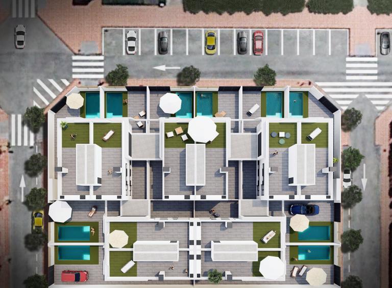 3/3 Moderne neue Villen 800 Meter von den Stränden entfernt Nieuwbouw Costa Blanca