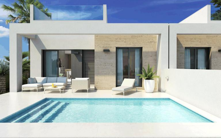 Kompakte Ferienvillen - Bungalows mit privatem Pool in Nieuwbouw Costa Blanca